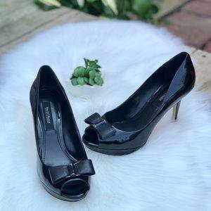 WHB Market Patent Leather Stilettos Black Sz 7.5